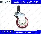 尼龙平板带刹车脚轮(2寸-6寸)
