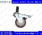 膨胀式万向带刹车脚轮(4寸)